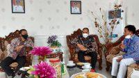 Bupati Basli Ali Didampingi Sekda Terima Kunjungan Branch Manager PT. Taspen KCU Makassar