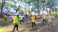 Kawasan Hunian Sehat, Bukit Baruga Gelar Jogging dan Senam Bersama Warga