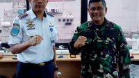 Danlantamal VI Terima Kunjungan Direktur Politeknik Pelayaran Barombong yang Baru