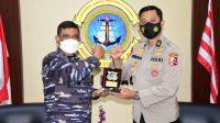Danlantamal VI Menerima Audiensi Kepala Kantor Kesyahbandaran Utama Makassar
