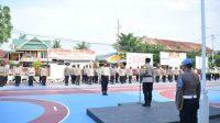 Gelar Pasukan, Polres Sidrap Siapkan Ratusan Personel Amankan Pilkades Serentak 2021