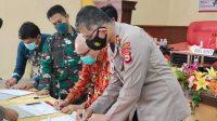 Polres Bantaeng Kerja Sama Pemkab Gelar Deklarasi Damai Cakades dalam Rangka Pilkades Serentak